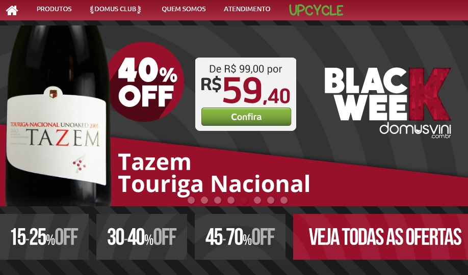 Tazem Touriga Nacional 2005 com 40% off na Week Friday da Domus Vini